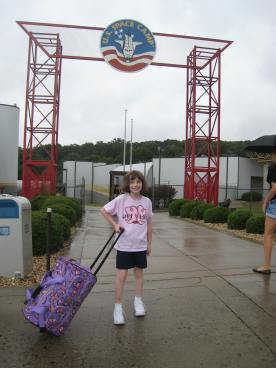 Outside the Space Camp area of the Space and Rocket Center.