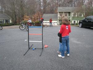 Ladder ball was a big hit with all the neighborhood kids.