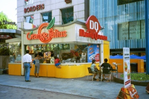 Orange Julius was around when we lived in Singapore but DQ is new since then