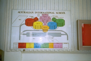 Map left behind when the Australian school left