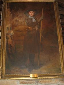 Huge painting of Juliette Low.