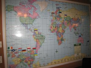 Counselors come from all over the world.