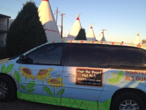 "Side of the ""hippy mobile"""