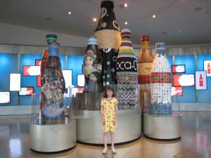 Art bottles in the lobby