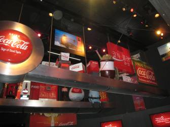 More Coke stuff overhead