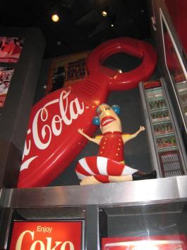 Giant bottle opener and Wendy