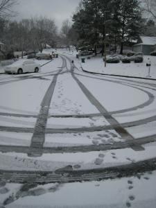 Alien snow circles