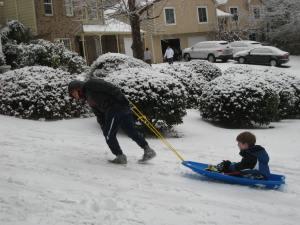 Gabriel towing Nathan