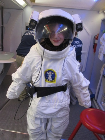 Outfitted for a space walk