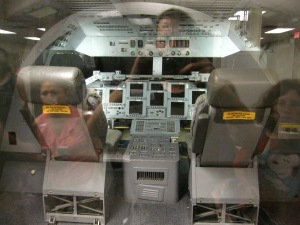 Mockup of the shuttle cockpit for the SES