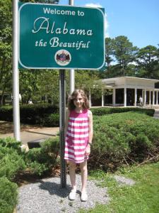 Into Alabama (home of insane drivers) ...