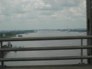 Across the Mighty Mississippi (squint and maybe you can see Huck Finn on his raft)
