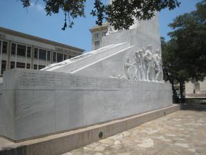The Spirit of Sacrifice cenotaph side view