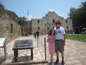 Heath and Katy at the Alamo