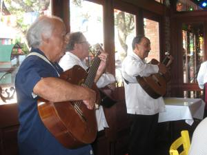 A little dinner music. They were serenading a big Mexican family at the next table.
