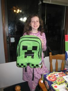 Minecraft backpack!