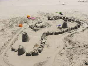 It's more of a sand fortress.