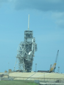 One of the launch pads