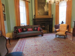 The back drawing room (the family room). Daisy's SIL came to the house one day and found Daisy's mother in the library having a fit saying