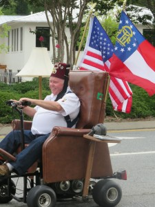 This is my idea of riding in a parade.