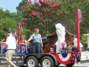 We liked the eagle from the Roswell post of the American Legion.