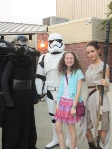 Kylo Ren, Stormtrooper and Rey